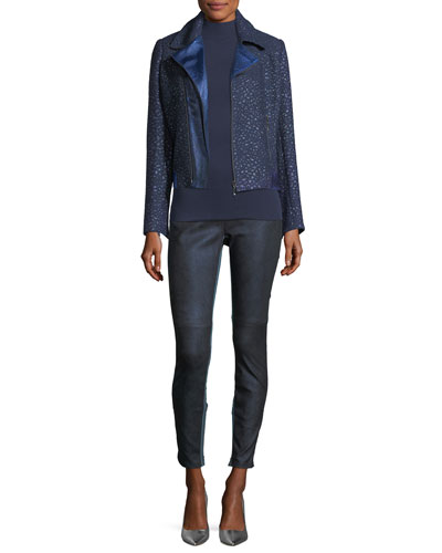 Roxanna Skinny Denim-Effect Leather Pants and Matching Items