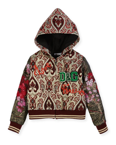 Brocade Zip-Up Hoodie, Size 4-6 and Matching Items