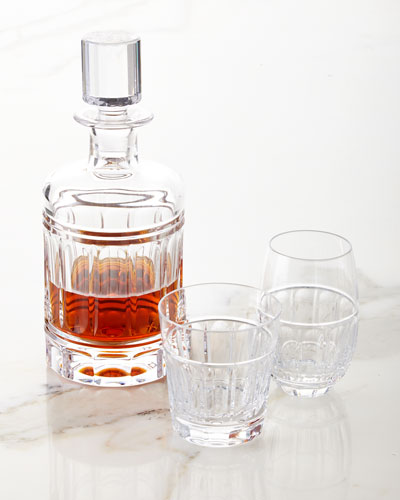 Bolton Crystal Decanter  and Matching Items