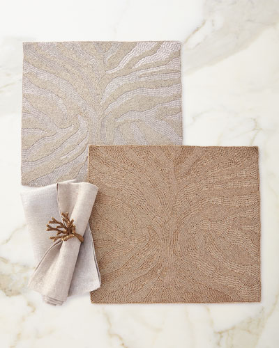 Glitter Edge Napkin, Gold and Matching Items