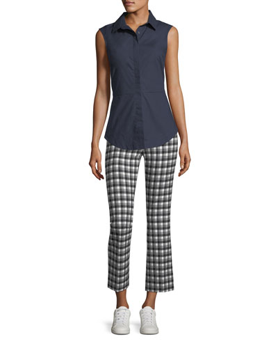 Cropped Flare Gingham Trousers and Matching Items