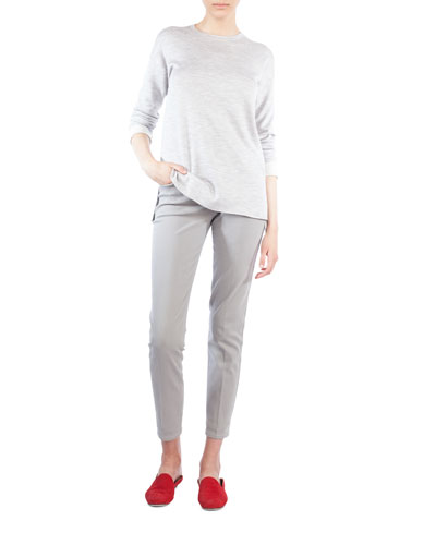 Mid-Rise Skinny-Leg Cotton-Stretch Pants and Matching Items