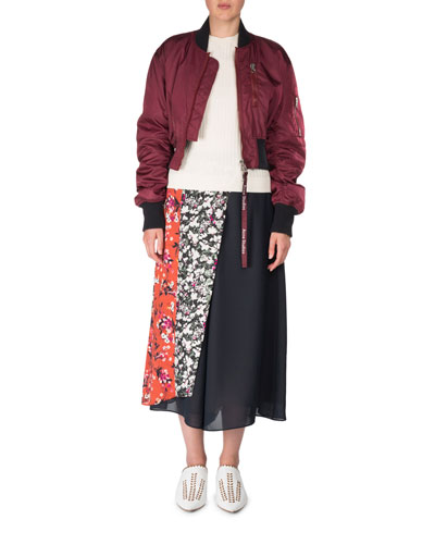 Aila Zip-Front Bomber Jacket and Matching Items