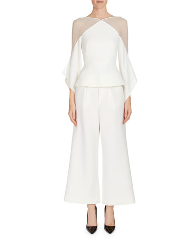 Broadgate Pleated Wide-Legs Pants  and Matching Items