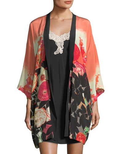 Gypsy Rose Short Silk Robe and Matching Items