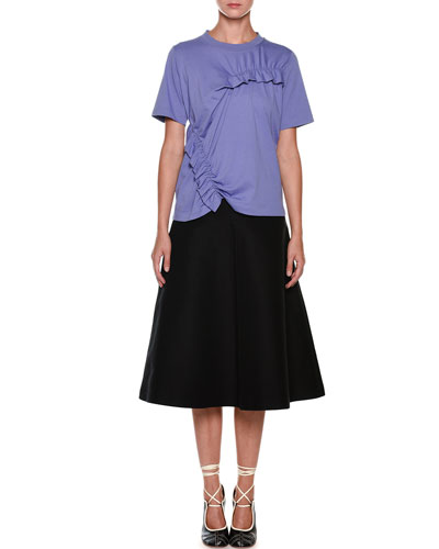 Mid-Calf Circle Cotton Woven Skirt and Matching Items