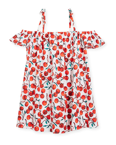 Eden Cherry-Print Coverup Dress, Size 4-7  and Matching Items