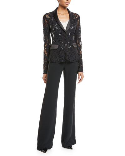 Corsey Flared-Leg Tuxedo Pants and Matching Items