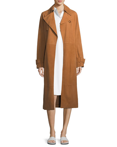 Belted Suede Trench Coat and Matching Items
