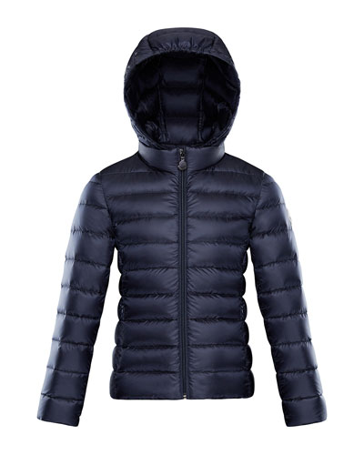 Iraida Hooded Lightweight Down Puffer Jacket, Navy, Size 4-6  and Matching Items