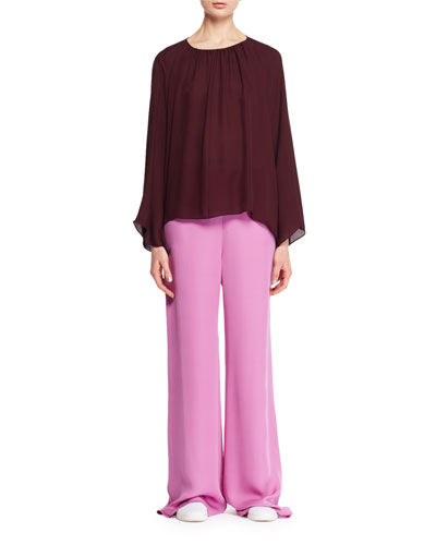 Kiola Wide-Leg Silk Pants and Matching Items