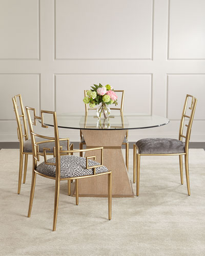 Kalmata Brass Arm Chair  and Matching Items