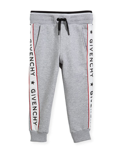 Cotton-Blend Jersey Sweatpants w/ Logo Sides, Size 4-5  and Matching Items
