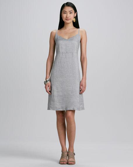 555a21993e4 Eileen Fisher Twinkle Linen Slip-Dress