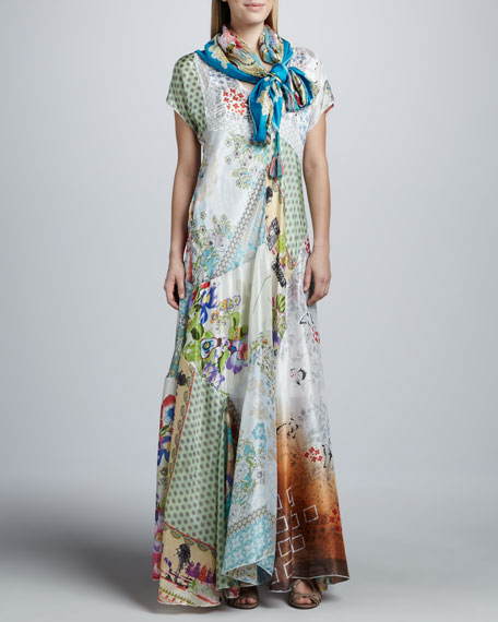 Johnny Was Collection Prudence Silk Printed Maxi Dress Women S