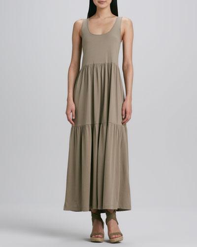 Tiered Long Tank Dress