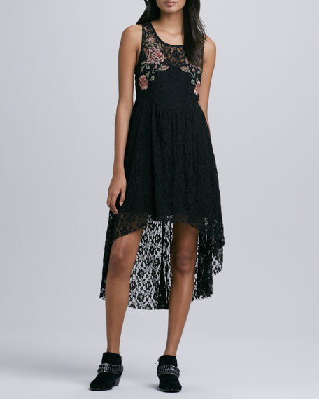 Russian Nesting Doll High Low Lace Dress