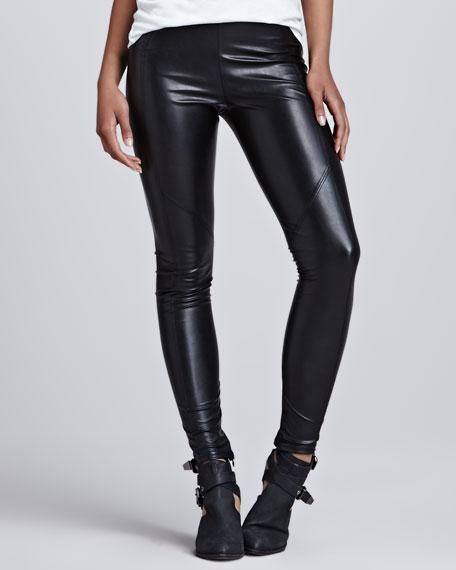 b63d77ff1fe20 David Lerner Seamed Vegan-Leather Leggings