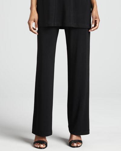 Stretch Knit Slim Pants