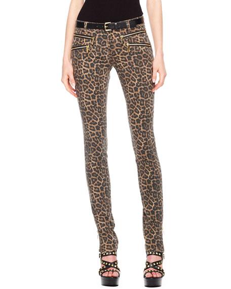 01d6d6f48abf MICHAEL Michael Kors Leopard-Print Zip Skinny Jeans