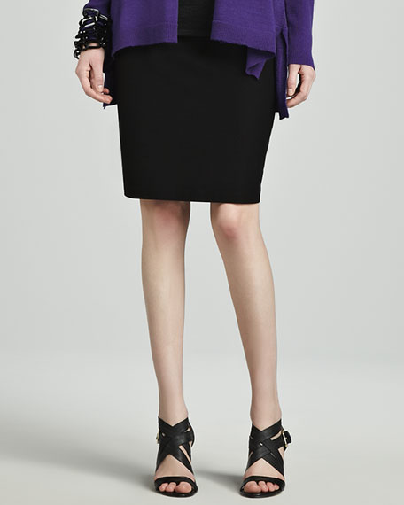 ba00b232915 Eileen Fisher Washable Stretch Crepe Pencil Skirt