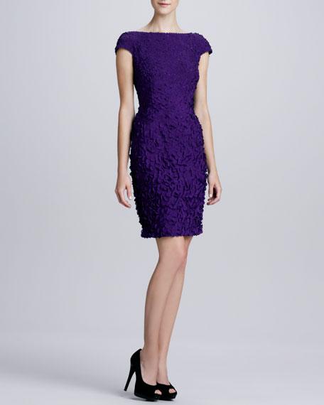 85a39cfd06e Theia Cap-Sleeve Petal Cocktail Dress