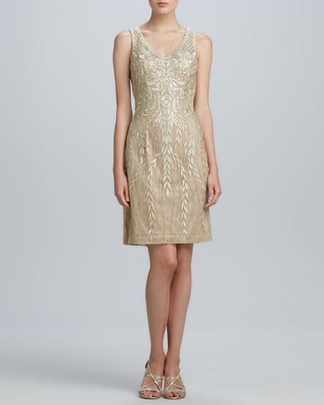 d7825bb56ea Sue Wong Sleeveless Beaded Cocktail Dress. Sleeveless Beaded Cocktail Dress