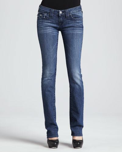 Billy Del Mar Flap-Pocket Straight-Leg Jeans