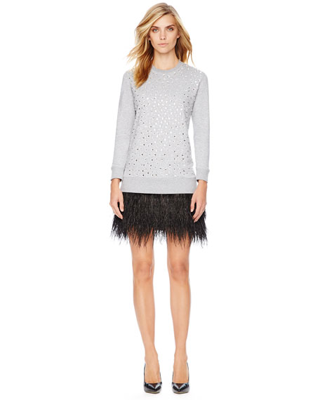 b6aae67a071 MICHAEL Michael Kors Feather-Hem Sweatshirt Dress