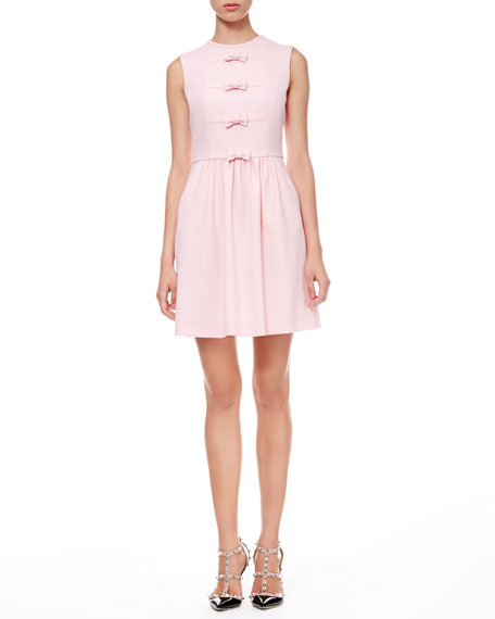 Bow Front Crepe Dress