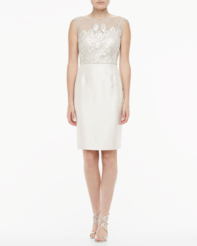 Sleeveless Lace Cocktail Dress