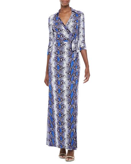 b127497dd8c Diane von Furstenberg Abigail Python-Print Wrap Maxi Dress