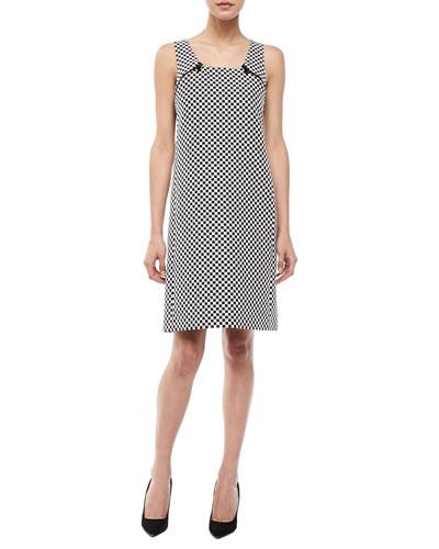 Check Jacquard Mod Shift Dress