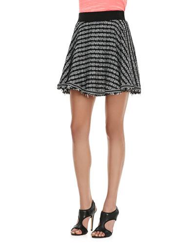 Geo Flared Tweed Skirt