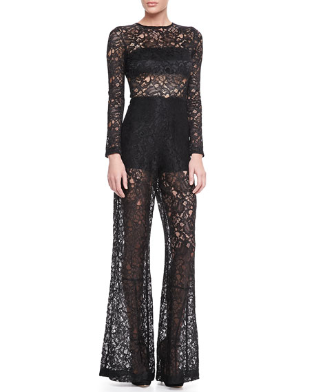 7065bed4a21 Alexis Ambra Sheer Lace Jumpsuit