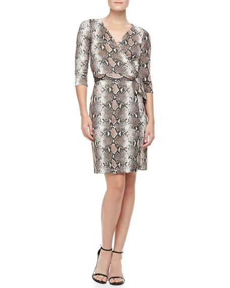 6a171ffc15bae Diane von Furstenberg New Julian Two Python-Print Silk Jersey Dress