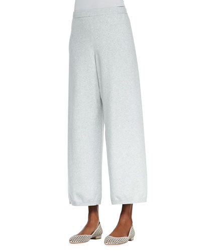 Wide-Leg Knit Pants, Women's