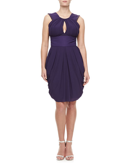 J. Mendel Sleeveless Beaded Halter Dress