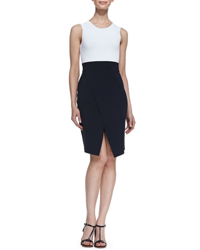 Savile Sleeveless Colorblock Dress