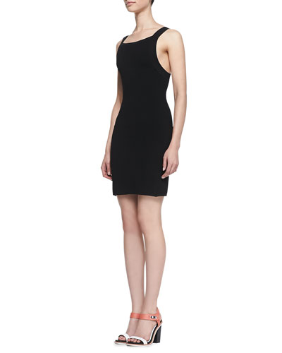 Colette Fitted Square-Back Dress