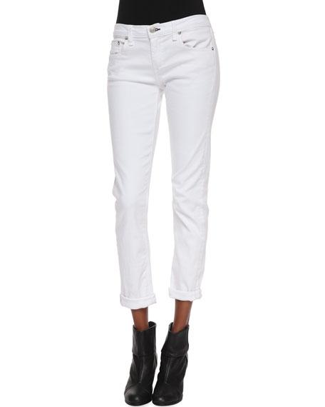 Cheville Jeans Dre - Chiffon Blanc Et D'os lYib7
