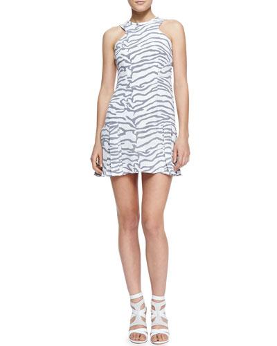 Printed Flare-Hem Dress