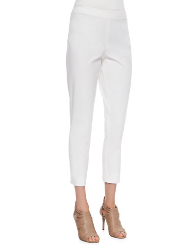 Skinny Ankle Pants, White