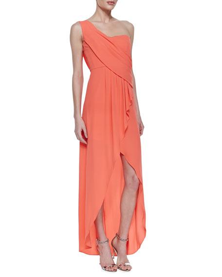 52ad65fa54b7d BCBGMAXAZRIA Kailo Draped One-Shoulder Gown