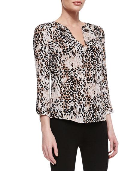 4516fe56b89c3d Joie Pearline Silk Leopard-Print Blouse