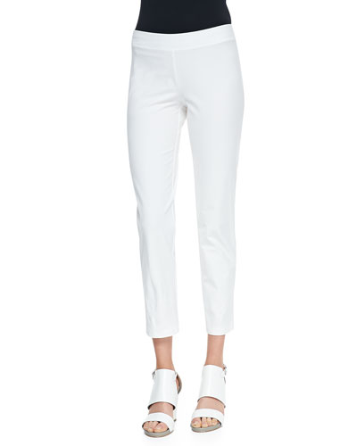 Washable Stretch-Crepe Ankle Pants, Women