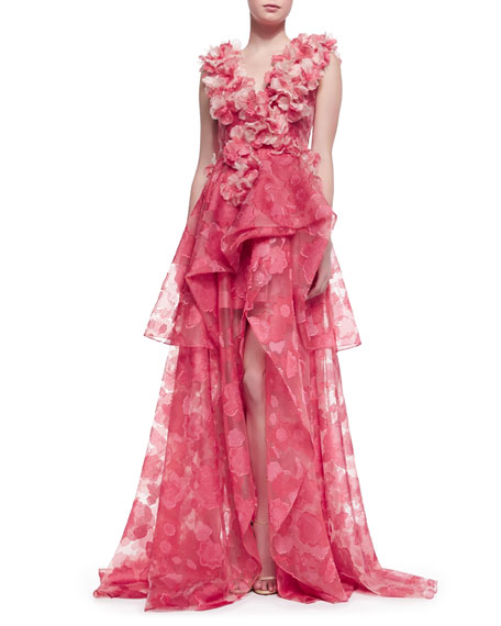Sleeveless Petal Lique Gown
