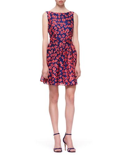 Open-Back Flared-Skirt Dress