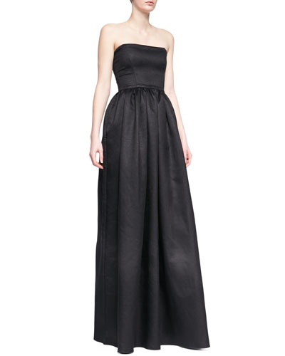 Mykel Strapless Crepe Gown