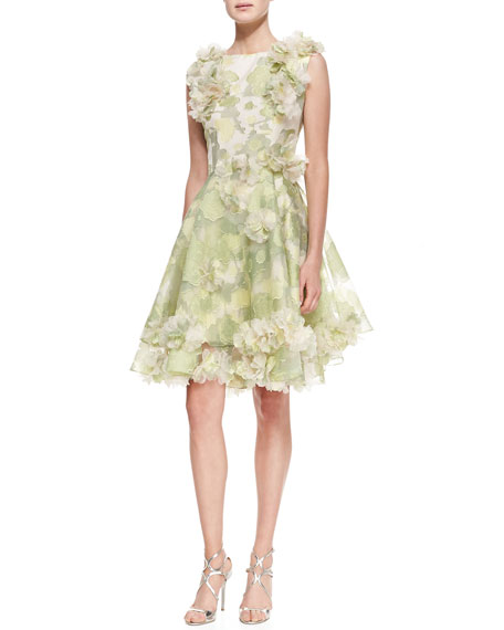 ceb30d75d91cf Christian Siriano Sleeveless Floral Cocktail Dress